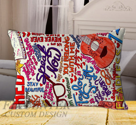"Taylor Swift Collage on Rectangle Pillow Cover 20"" X 26"" / one side, Rectangle Pillow Case - fixcenters, fixcenters"