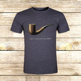 The Fault in Our Stars Ceci n'est pas une pipe on T shirt S / Grey / Men, tshirt - fixcenters, fixcenters  - 5