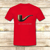 The Fault in Our Stars Ceci n'est pas une pipe on T shirt S / Red / Men, tshirt - fixcenters, fixcenters  - 7