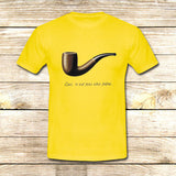 The Fault in Our Stars Ceci n'est pas une pipe on T shirt S / Yellow / Men, tshirt - fixcenters, fixcenters  - 8