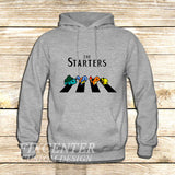 The Starters Pokemon Abbey Road on Hoodie Jacket XS / Grey, hoodie - fixcenters, fixcenters  - 3