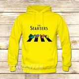 The Starters Pokemon Abbey Road on Hoodie Jacket XS / Yellow, hoodie - fixcenters, fixcenters  - 7