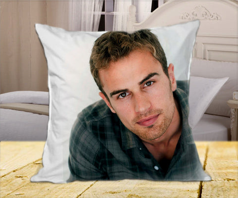 "Theo James 1st Pose on Square Pillow Cover 16"" X 16"" / one side, Square Pillow Case - fixcenters, fixcenters"