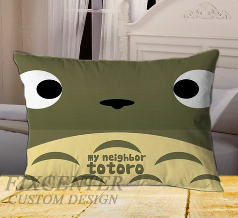 "Totoro My Neighbor on Rectangle Pillow Cover 20"" X 26"" / one side, Rectangle Pillow Case - fixcenters, fixcenters"