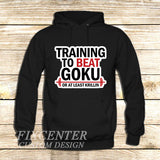 Training to Beat Goku or Krillin on Hoodie Jacket XS / Black, hoodie - fixcenters, fixcenters  - 1
