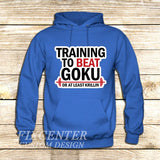 Training to Beat Goku or Krillin on Hoodie Jacket XS / Blue, hoodie - fixcenters, fixcenters  - 2