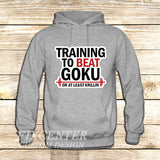Training to Beat Goku or Krillin on Hoodie Jacket XS / Grey, hoodie - fixcenters, fixcenters  - 3