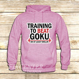 Training to Beat Goku or Krillin on Hoodie Jacket XS / Pink, hoodie - fixcenters, fixcenters  - 4