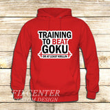 Training to Beat Goku or Krillin on Hoodie Jacket XS / Red, hoodie - fixcenters, fixcenters  - 5