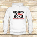 Training to Beat Goku or Krillin on Hoodie Jacket XS / White, hoodie - fixcenters, fixcenters  - 6