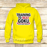 Training to Beat Goku or Krillin on Hoodie Jacket XS / Yellow, hoodie - fixcenters, fixcenters  - 7