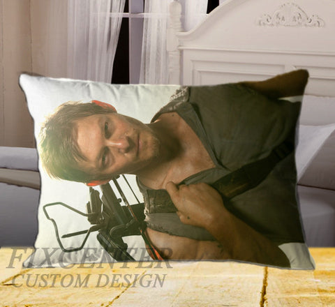 "WALKING DEAD Daryl Dyxon on Rectangle Pillow Cover 20"" X 26"" / one side, Rectangle Pillow Case - fixcenters, fixcenters"