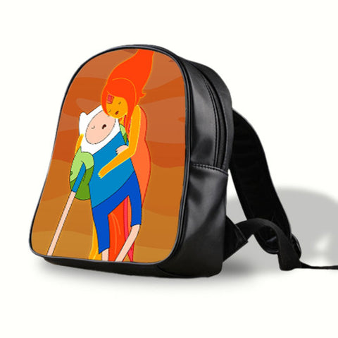 adventure time finn and flame princess cute Pre-School Backpack - School Bag , School Bag - fixcenters, fixcenters