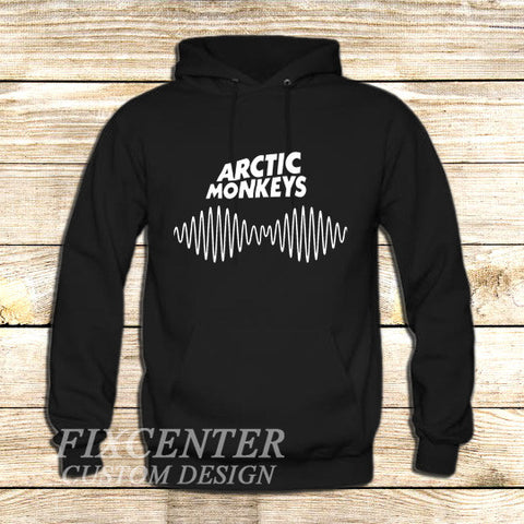 arctic monkeys t shirt soundwave am music indie rock band on Hoodie Jacket XS / Black, hoodie - fixcenters, fixcenters  - 1
