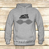 arctic monkeys t shirt soundwave am music indie rock band on Hoodie Jacket XS / Grey, hoodie - fixcenters, fixcenters  - 3