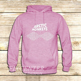 arctic monkeys t shirt soundwave am music indie rock band on Hoodie Jacket XS / Pink, hoodie - fixcenters, fixcenters  - 4