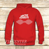 arctic monkeys t shirt soundwave am music indie rock band on Hoodie Jacket XS / Red, hoodie - fixcenters, fixcenters  - 5