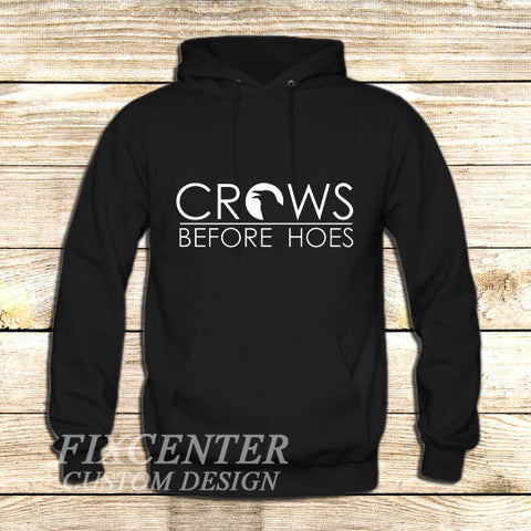game of thrones season 5 trailer decal crows before hoes on Hoodie Jacket XS / Black, hoodie - fixcenters, fixcenters  - 1