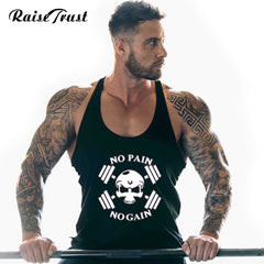 "Men's  ""No Pain No Gain"" Bodybuilding Tank Top"