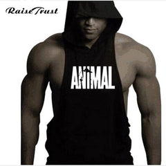 Men's Bodybuilding Musculation Tank Tops with Hood