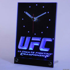 UFC Ultimate Fight Championship Table Desk 3D LED Clock