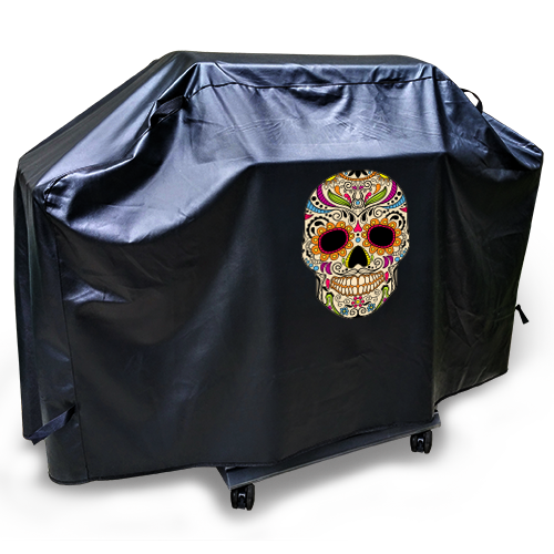 candy skull bbq cover xlarge - Bbq Covers