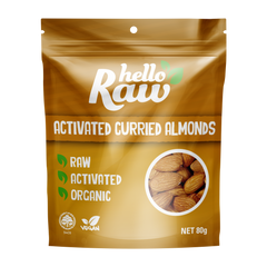 HELLO RAW ACTIVATED ALMONDS 80G