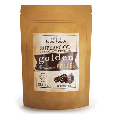 Natava Superfood Chocolate Covered Golden Berries