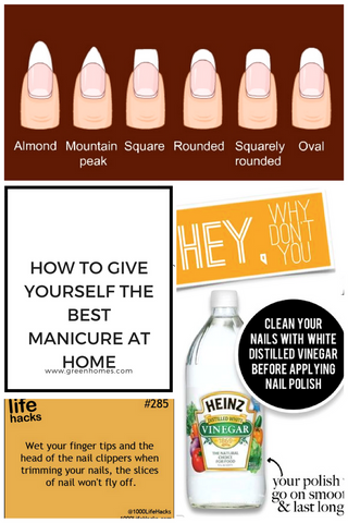 TRICKS FOR GIVING YOURSELF AN AT HOME MANICURE
