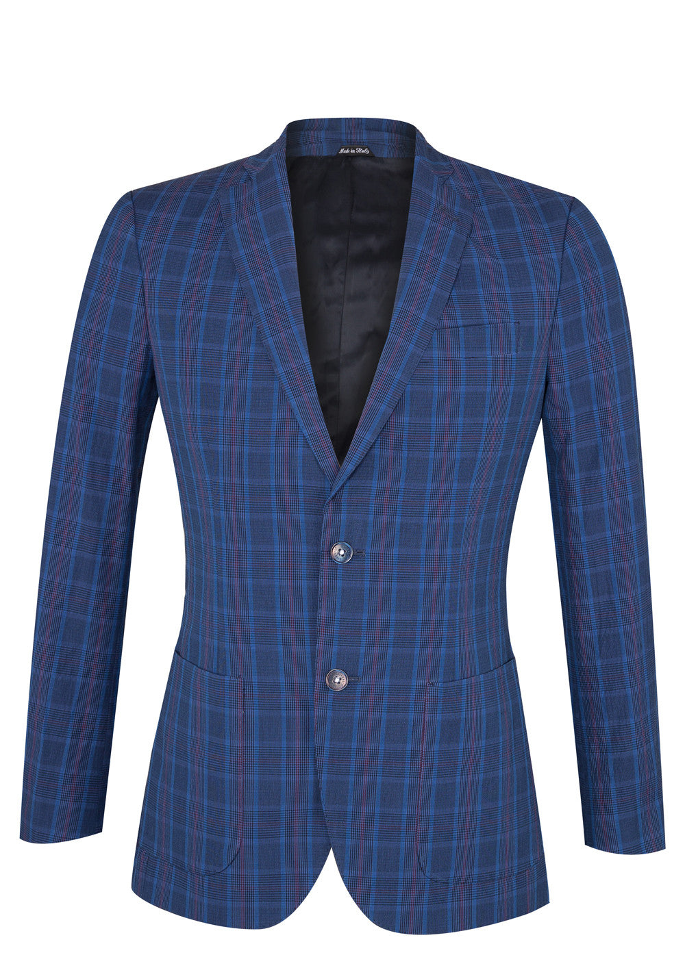 Mid Blue Check Patch Blazer
