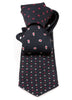 Black & Red Multi-Design Handmade Silk Tie