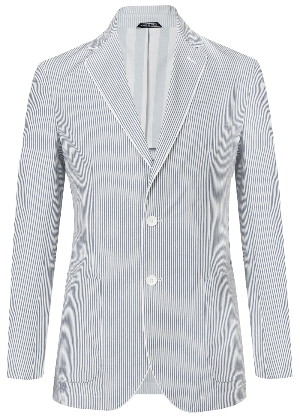 Sky Stripe Piping Lapel Blazer