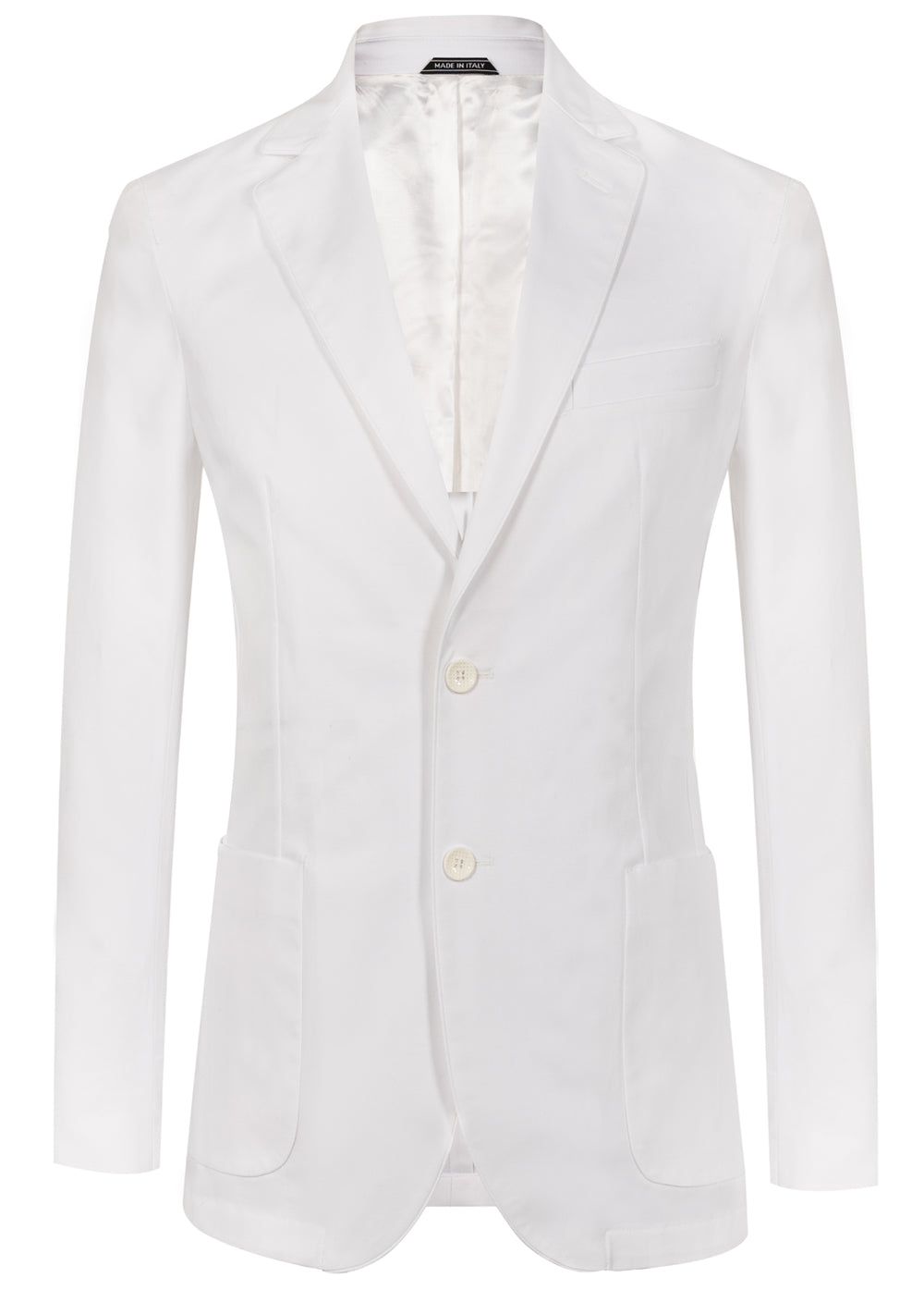 White Piping Lapel Blazer