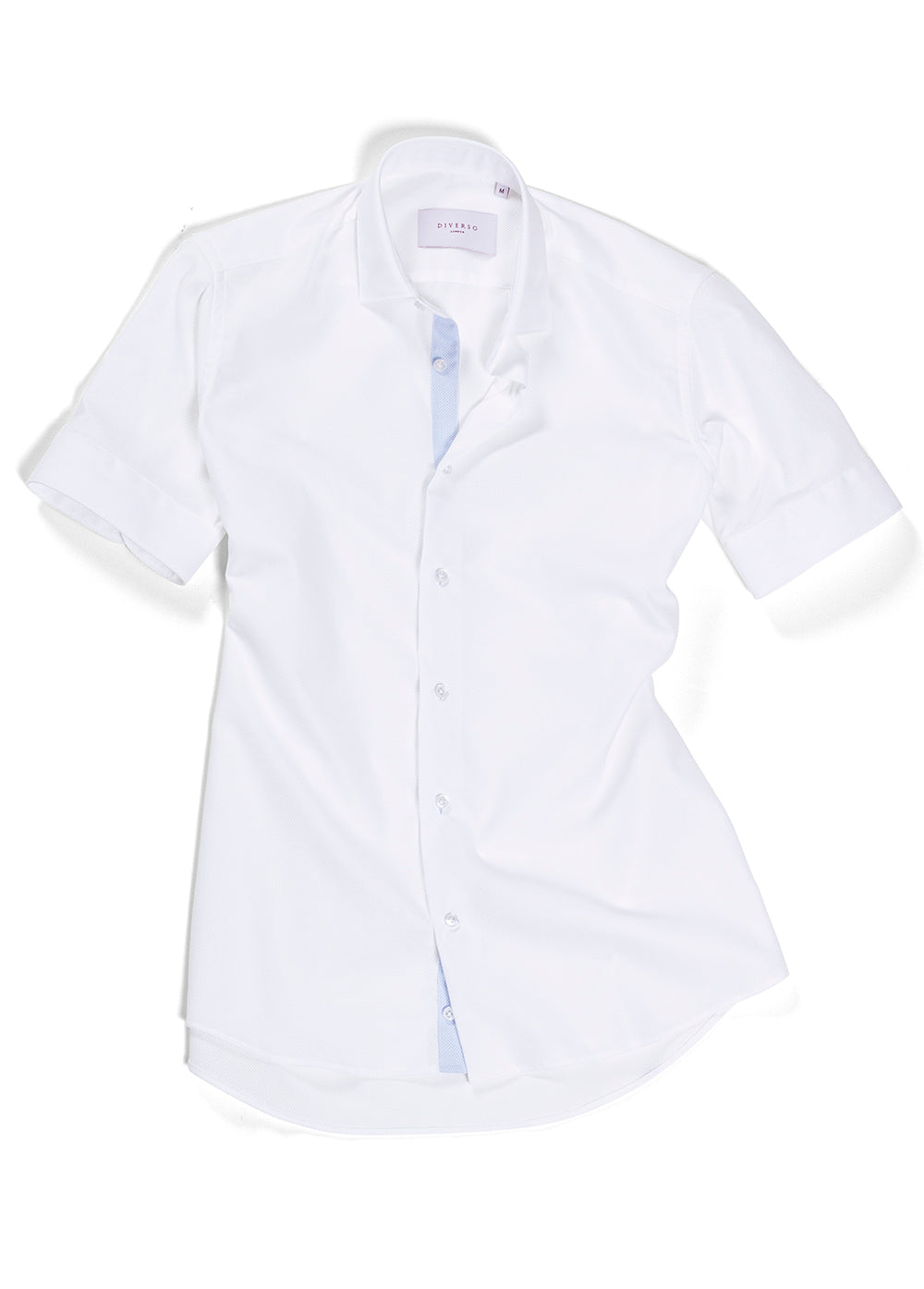 White Trim Giro Inglese Short Sleeve Shirt