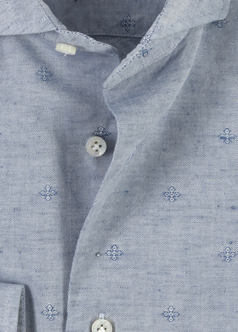 Light Wash Cotton-Linen Jacquard Shirt