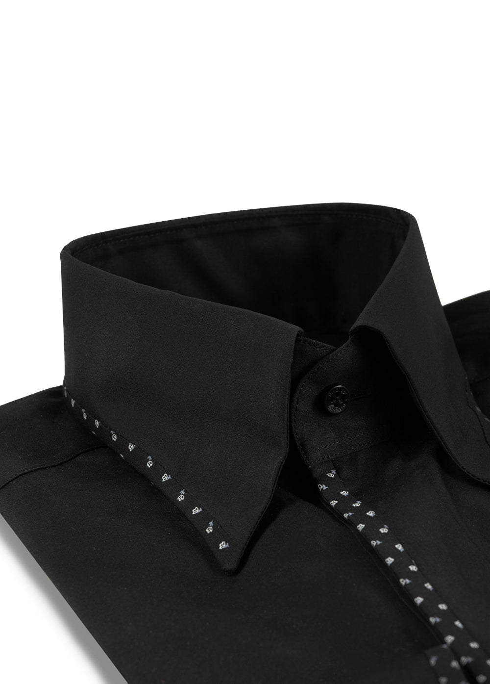 Black & Floral Edge Trim Shirt