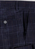 Navy Rustic Check Wool Pant