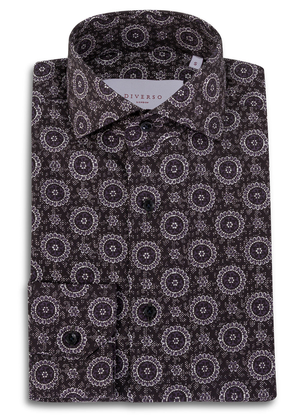Black Archive Print Cutaway Shirt