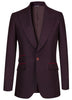 Burgundy Flannel Ultra Peak Wool Blazer