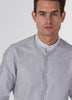 Grey Stripe Contrast Guru Shirt