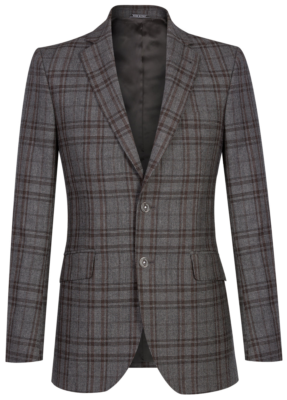 Grey Prince of Wales Wool Blazer