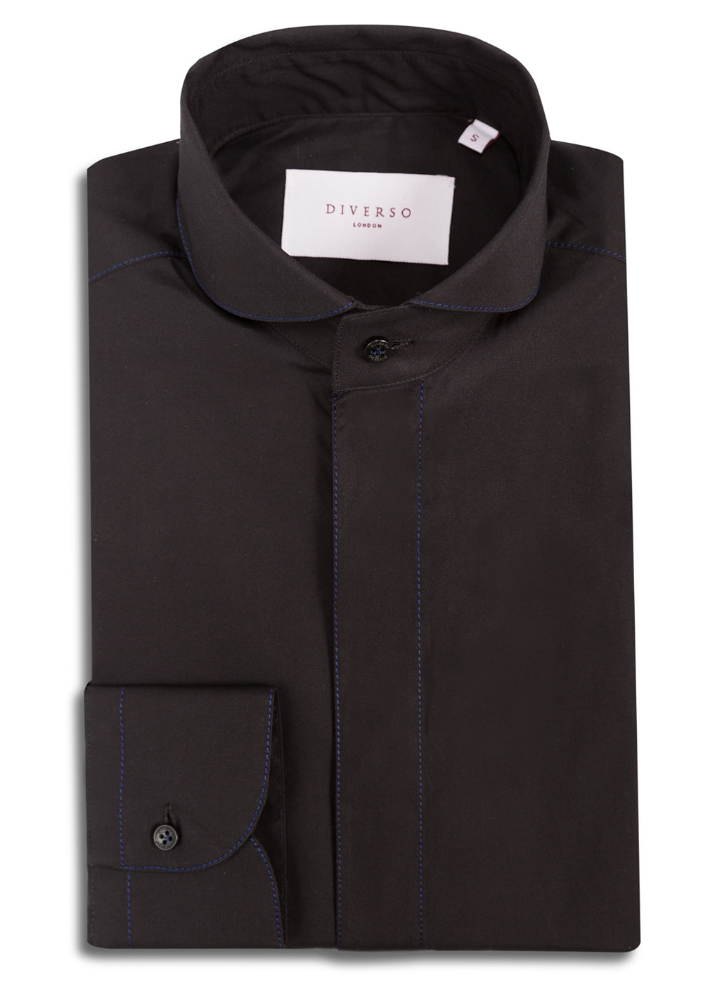 Black Silk-Stitch Shirt