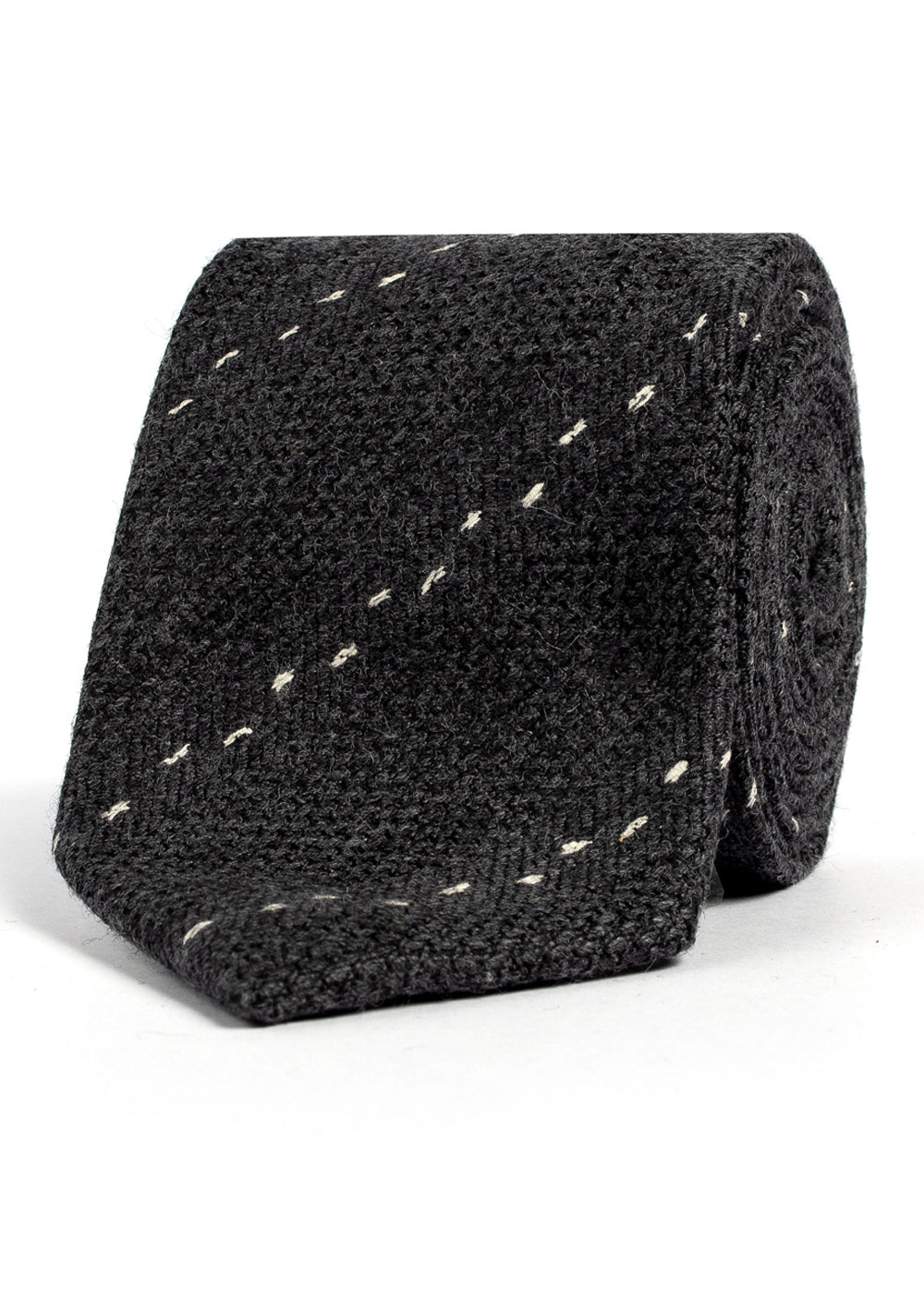 Grey Stitch Handmade Wool & Silk Tie