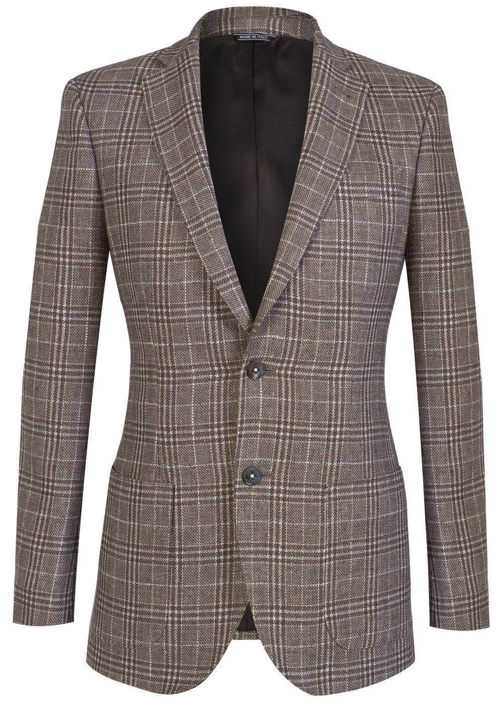 Tan Check Patch Blazer