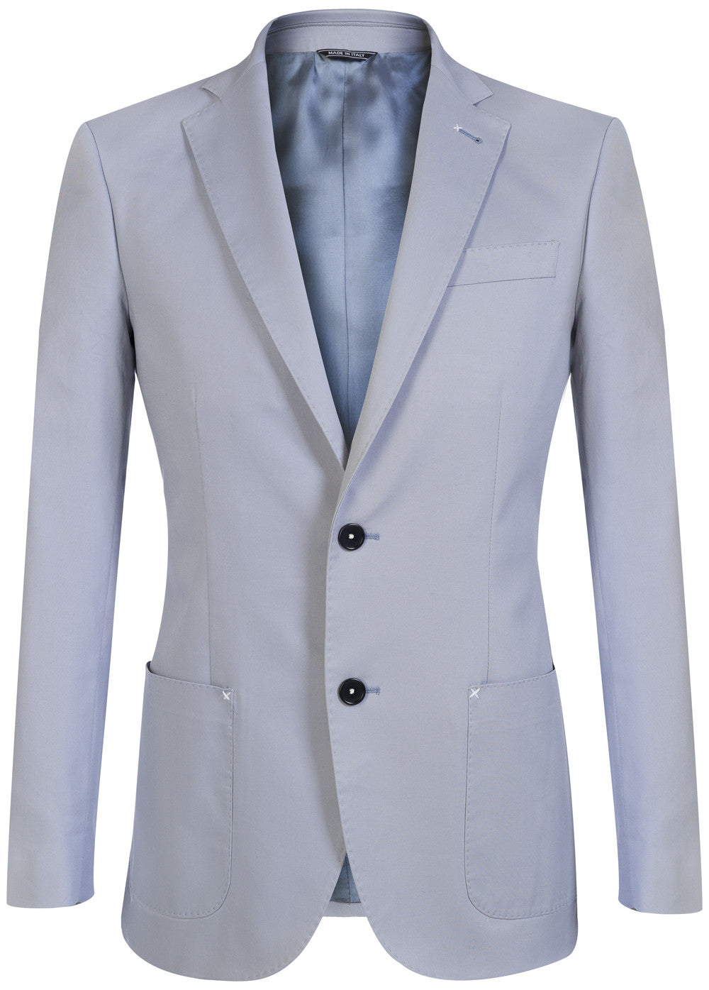 Sky Hand Stitch Cotton Blazer