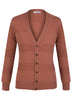 Dusty Pink Self-Stripe Wool Cardigan