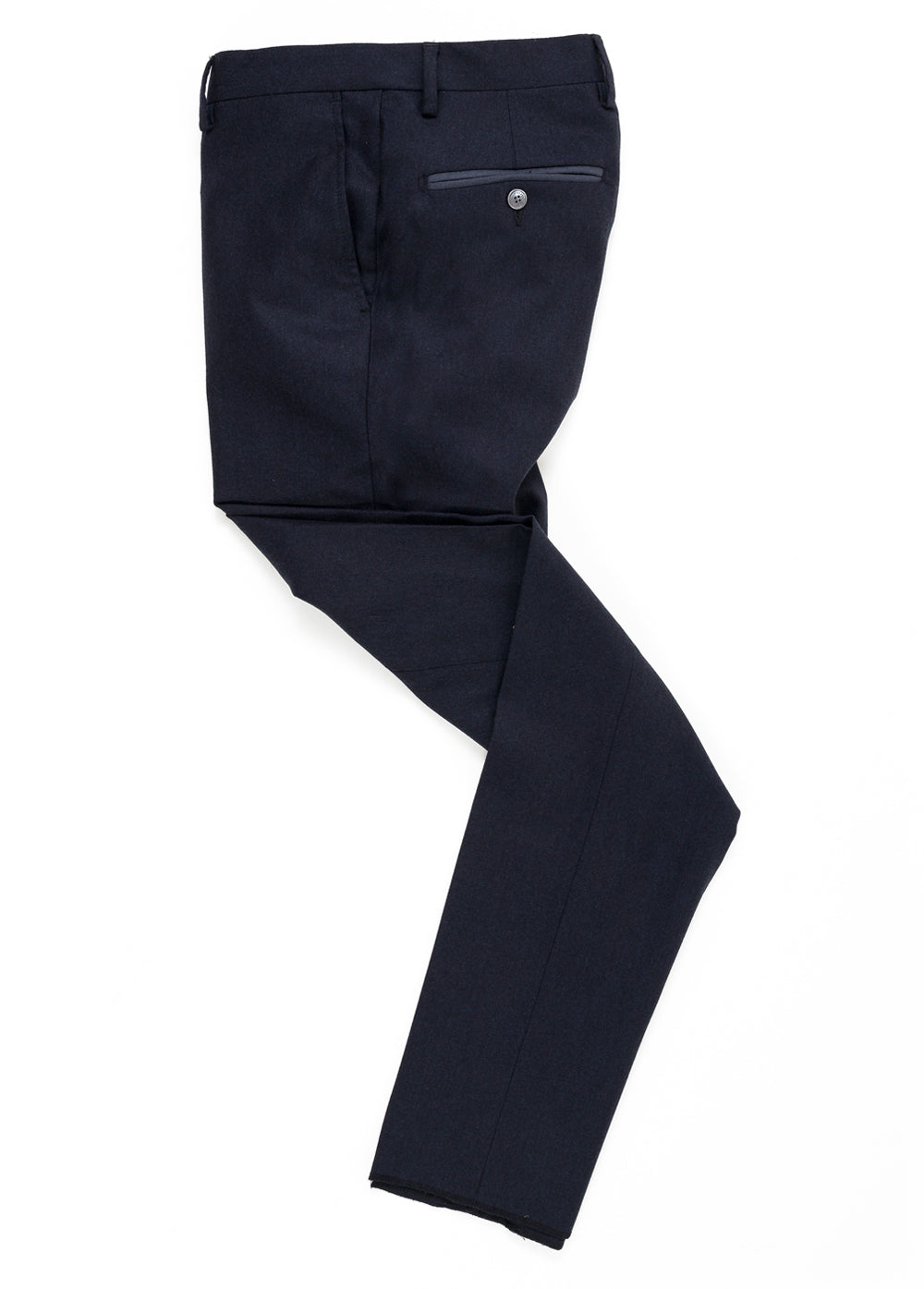 Navy Flannel Contrast Wool Pant