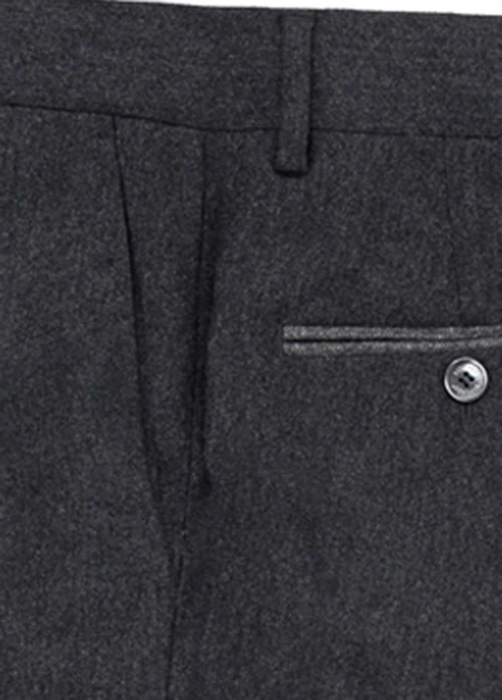 Grey Flannel Contrast Wool Pant