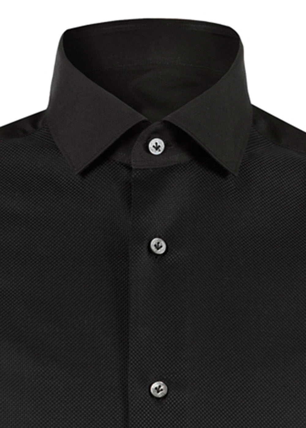 Black Luxury Cotton Bib Shirt