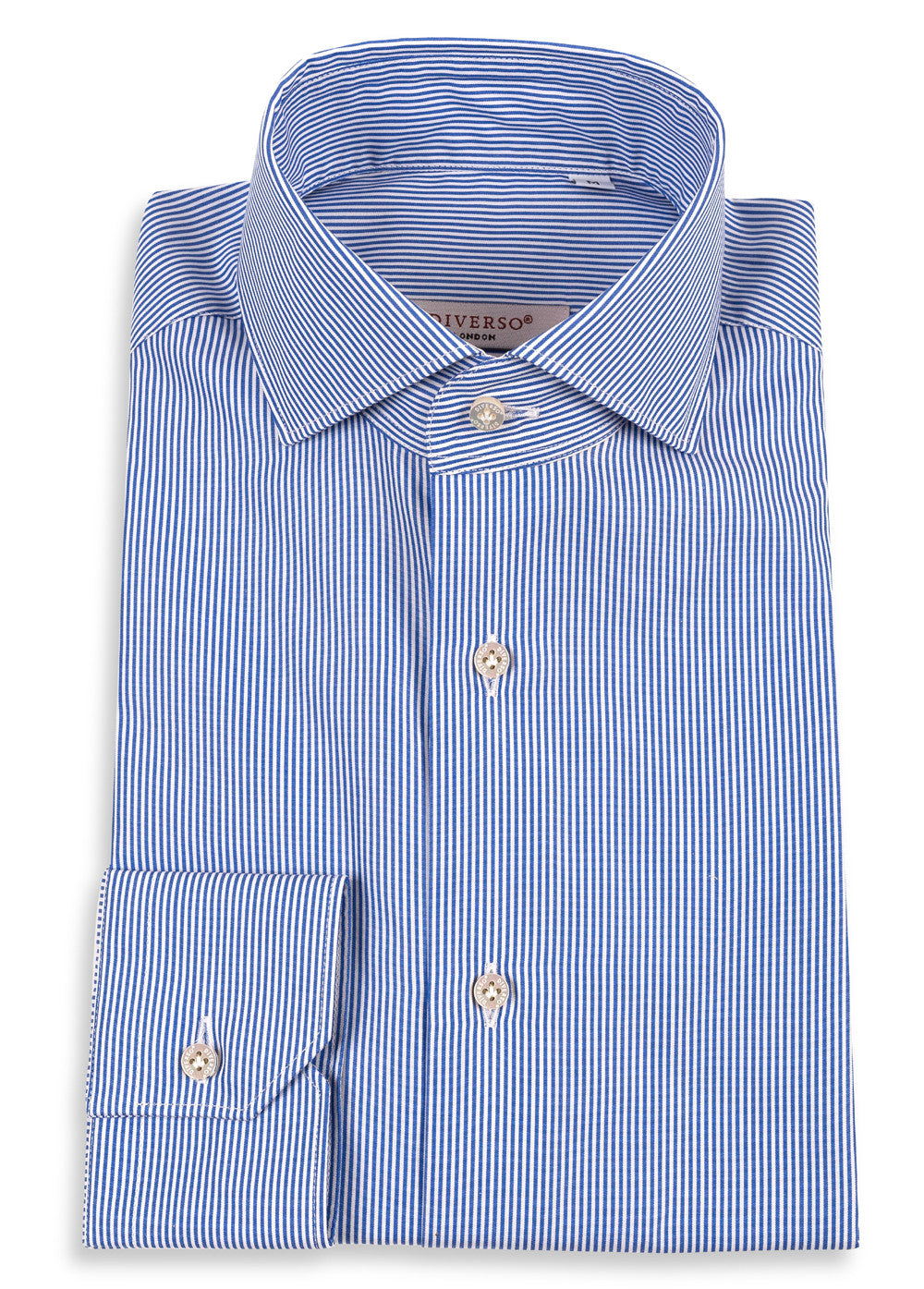 Navy Stripe Luxury Cotton Shirt